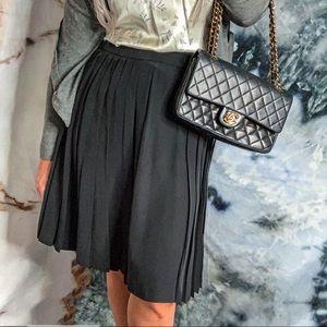 100% silk authentic Chanel black classic skirt